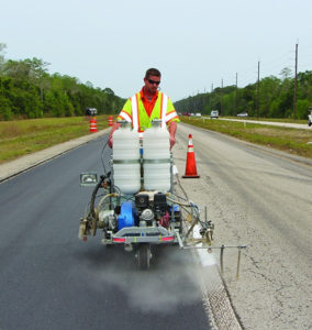 History of Road Line Marking