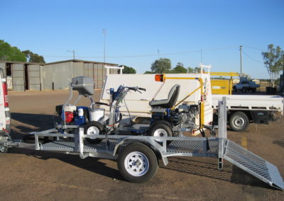 Graco LineMarker & LineDriver on trailer